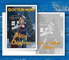 Doctor Who Christmas Card featuring Jodie Whittaker the 13th Doctor + Tardis
