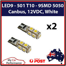 LED9 - 501 T10 - 9SMD 5050, Canbus, 12VDC, White