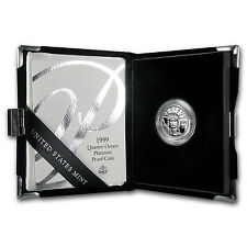 1/4 oz Proof Platinum American Eagle (Random Year, w/Box & COA) - SKU #60192