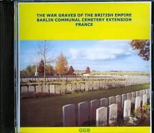 WAR GRAVES OF BARLIN COMMUNAL CEMETERY EXTENSION CD ROM
