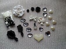 Flatback Resin Black While lovely Lolita DIY Accessories Deco Den Craft Mix Kit