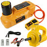 AUTOOL 12V 6T Electric Hydraulic Floor Jack Lift Pump Electric Wrench US Stock