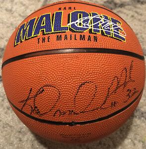 Karl Malone Autographed Basketball PSA/DNA COA