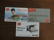 3 RARE POST OFFICE ONE4ALL GIFT CARDS .USED. NO VALUE. COLLECTORS ITEM.  LOT 5