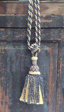 One tassel curtain tie backs blue & gold