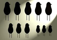 A4 in plastica Stencil Shabby Chic Divertente Birds vintage stile francese Muro 297x210mm