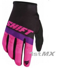 Shift WHIT3 Label Air Motocross MX Off Road Race Gloves Black Pink Adults XXL