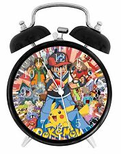 "Pokemon Pikachu Alarm Desk Clock 3.75"" Home or Office Decor E14 Nice For Gift"