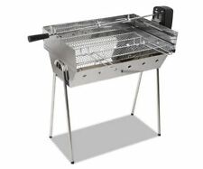 NEW PORTABLE SPIT ROASTER WITH 3V ROTISSERIE STAINLESS STEEL BBQ GRILL COOKING