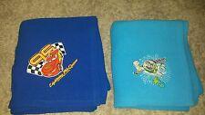 Disney blankets - Lightning McQueen & Buzz Lightyear. smoke free, pet free 4x4.5