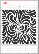 Beautiful Pattern Stencil MYLAR A4 sheet strong resuable Art Craft Wall Deco