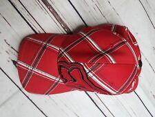 Red Plaid Fox racing hat flex fit