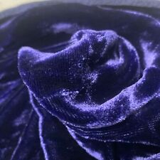 "SILK VELVET FABRIC Luxury Soft Top Quality ~ By The Yard X 44""  Midnight Blue"