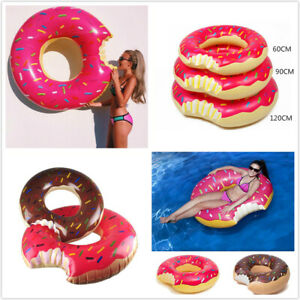 Inflatable Donut Swim Ring Swimming Pool Float Lounger Beach Ring Swimming Float