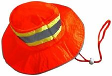 Ironwear Hi Viz Booney Hat Orange Silver Reflective Tape Lime Green Trim Boonie
