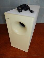 "BOSE POWERED ACOUSTIMASS 9  SPEAKER SYSTEM ""ACTIVE SUBWOOFER"" IN WHITE ok"