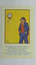 1930s Comic Vintage Reg Carter Postcard Antique Pendulum Clock Pub Beer License