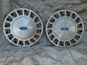 """2 - Ford Tempo Aerostar 1988-1994 14"""" Metal Hubcap Wheel Covers"""