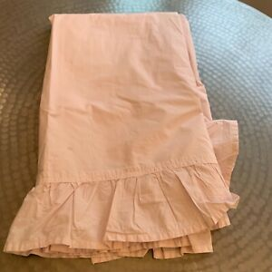 Simply Shabby Chic Full sheet  Ashwell Pink Ruffle Cotton Cottage Farmhouse 892