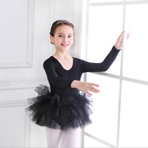 UK Kids Girls Tutu Ballet Dress Gymnastics Leotard Dance Wear Ballerina Costume
