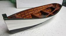 medium Wood ROW BOAT Skif Dory CANOE model rowboat skiff nautical decoration NEW