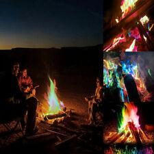 Magic Mystical Fire Tricks Bonfire Camp Fire Pit Colorful Flame Powder Games Toy