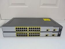 X 2 CISCO WS-CE500-24TT 24-ports Externe Commutateurs gérés. CCNA, CCNP