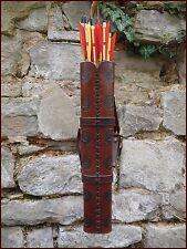 Schöner Pfeilköcher, Rückenköcher echt Natur- Leder in Handarbeit gefertigt!