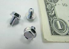 100 #8-32 x 1/4 Hex Washer Head Thread Swaging Machine Screws Heat Treated Zinc