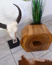 Objekthocker aus Suar-Holz, 55x28x43cm Podest Konsole Beistelltisch Couchtisch