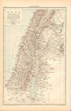1893 Antique Map - Palestine