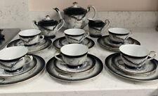 More details for vintage japanese porcelain raised dragon ware moriage tea set geisha lithograph