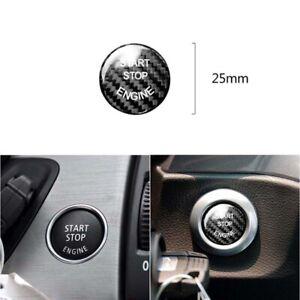 Carbon Fiber Engine Start Buttons Sticker Trim fit For BMW 3 Series E90 E92 E93