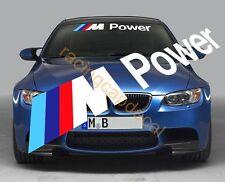 "26"" M Power Sun Strip Visor Windshield Decal Sticker bmw 1M M2 M3 M4 M5 M6 Z4 X6"
