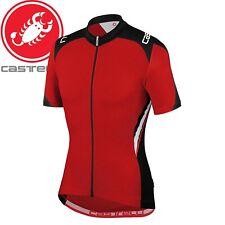 Castelli Vincente Fz Men's Jersey - Red/Black - Sizes M, L, XL