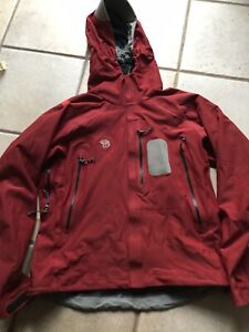 Mountain Hardwear Mens Medium Red Softshell Jacket Hoody Windproof