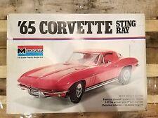 Vintage Monogram 1/8 Scale Model Car Kit 1965 65' Corvette Stingray #2600