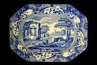 Beautiful Vintage Copeland Spode Italian Blue Large Eight Sided Platter