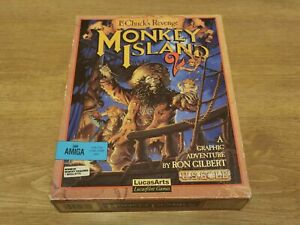 Monkey Island 2, Le Chuck's Revenge. For the Commodore Amiga. Tested working. GC