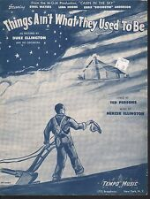 Things Ain't What They Used to Be 1943 Cabin In The Sky Sheet Music