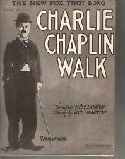 Charlie Chaplin Walk 1915 Large Format Sheet Music