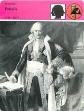 FICHE CARD Jean-Étienne-Marie Portalis Avocat Code Civil Napoléon France 90s