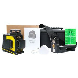 Self Leveling Rotary laser level green 3D 12 Lines Cross Line Laser Measure Tool