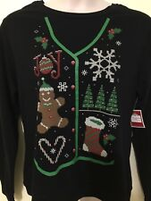 New Christmas Fleece Shirt XL Red Green Joy Soft Sweatshirt Womens