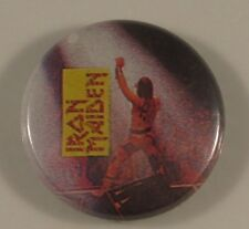 IRON MAIDEN BRUCE LIVE VINTAGE METAL BUTTON BADGE FROM THE 1980's / 90's