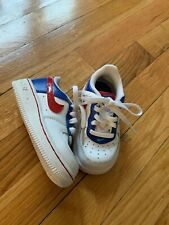 Euc Toddler 6C Wide Classic White/Blue/Red Nike Sneakers