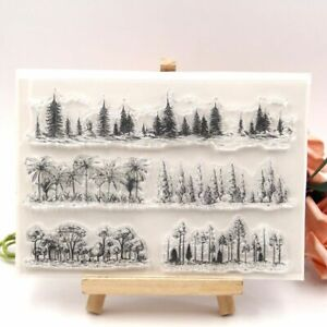 1pc Forests Transparent Silicone Stamps Clear Seal Stamp Scrapbook Card Making D