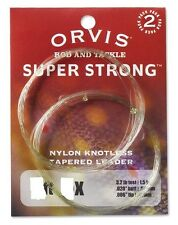 Orvis Super Strong 9 FT Leader 2 Pack 1X 0X New Bulk Package Sale