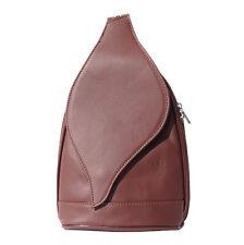 Borsa a Zainetto Cuoio Pelle Leather Backpack Purses Italian Made In Italy 2015b