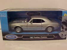 1969 Pontiac Firebird Coupe Die-cast Car 1:24 scale Welly 7.5 inches Silver
